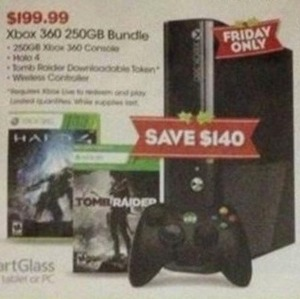 Xbox 360 250GB Bundle Halo 4, Tomb Raider, & Controller