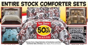 Entire Stock of Comforter Sets
