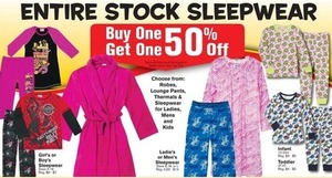Entire Stock of Women's Sleepwear