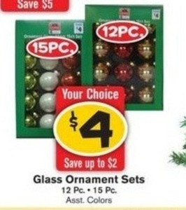 Glass Ornament Sets