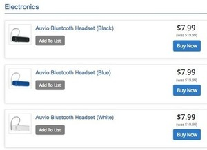AUVIO Bluetooth Headset (Blue)