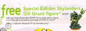 Special Edition Skylanders Gill Grunt Figure w/ $100 Skylanders Purchase