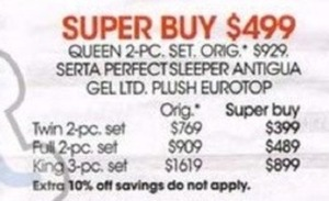 Serta Perfect Sleeper-Antigua Plush Eurotop-King 3-pc. Mattress Set