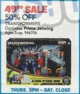 Transformers Optimus Prime Jetwing