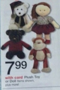 Plush Toy or Dolls w/ Card