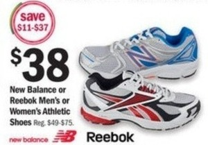 New Balance or Reebok Men's Athletic Shoes