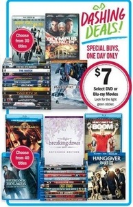 Select DVD or Blu-ray Movies