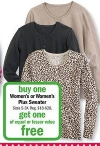 Women's or Women's Plus Sweater