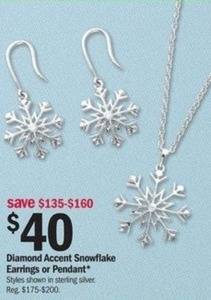 Diamond Accent Snowflake Pendant
