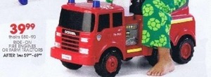 Ride On Fire Engines or Farm Tractors