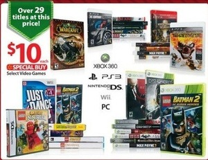 Select Video Games (Over 29 Titles)
