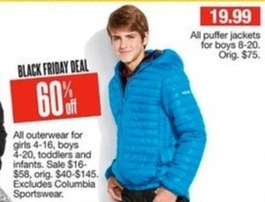 Entire Stock Girls' and Boys' Outerwear