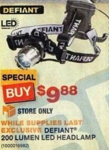 Defiant 200 Lumen LED Headlamp