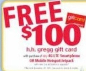 Free $100 Gift Card w/ 4G LTE Smartphone Purchase