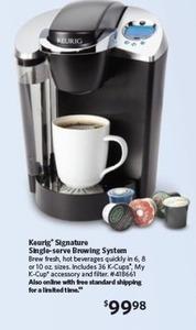 Keurig Signature Brewer Coffeemaker w/ Accessory & 36 K-Cup Packs