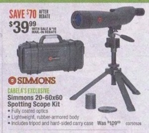 Simmons 20 60x60 Spotting Scope Kit