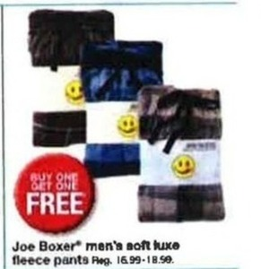 Joe Boxer Men's Soft Luxe Fleece Pants