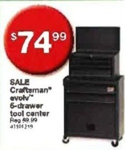 Craftsman Evolv 6-Drawer Tool Center