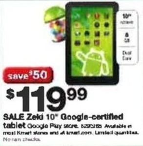 "Zeld 10"" Google-Certified Tablet"