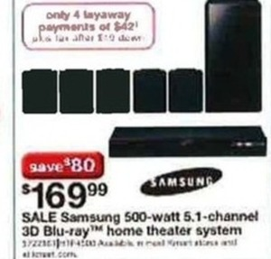 Samsung 500 watt 5.1 Channel 3D Blu Ray Home Theater System
