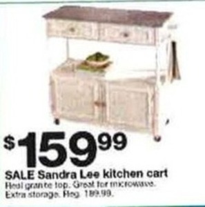 Sandra Lee Kitchen Cart