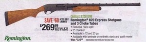 Remington 870 Express Shotguns & 3 Choke Tubes After Rebate