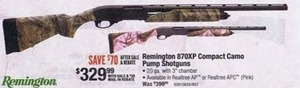 Remington 870XP Compact Camo Pump Shotguns After Rebate