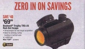 Bushnell Trophy TRS-25 Red-Dot Scope