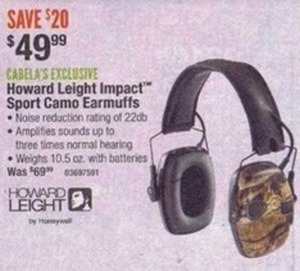 Howard Leight Impact Sport Camo Earmuffs