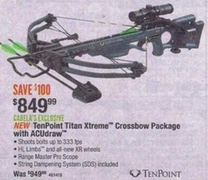 TenPoint Titan Xtreme Crossbow Package w/ ACUdraw