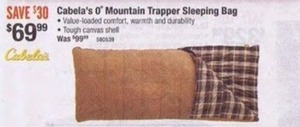 O' Mountain Trapper Sleeping Bag