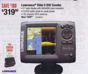 Lowrance Elite 5 DSI Combo