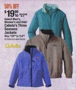 Select Men's, Women's & Kids' Three Seasons Jackets