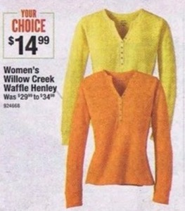 Women's Willow Creek Waffle Henley