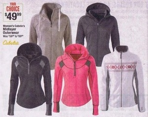 Women's Cabela's Midlayer Outerwear