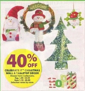 Celebrate IT Christmas Wall & Tabletop Decor