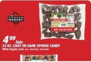 24oz Light ir Dark Sponge Candy