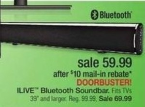 iLive Bluetooth Soundbar after Rebate