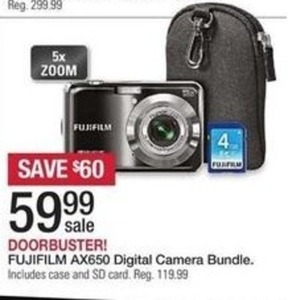 Fujifilm AX650 Digital Camera Bundle