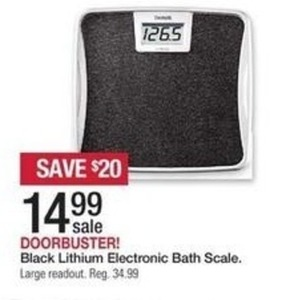 Black Lithium Electronic Bath Scale
