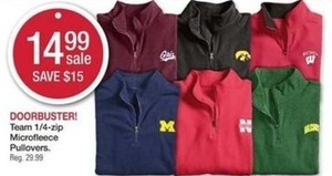 Team 1/4 Zip Microfleece Pullovers