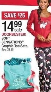 Soft Sensations Women's Graphic Tee Sets