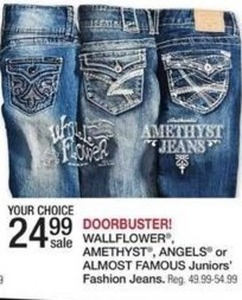 Wallflowers, Anethyst, Angels or Almost Famous Juniors' Jeans