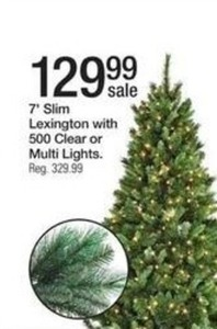 7' Slim Lexington Tree w/ 500 Lights