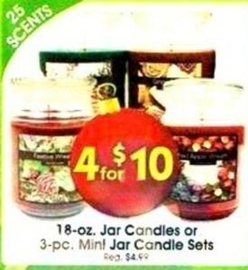 18-Oz. Jar Candles or 3-Pc. Mint Jar Candle Sets