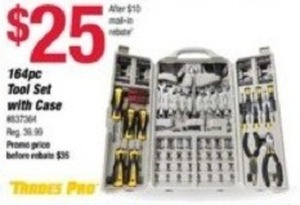 Trades pro 164pc Tool Set w/ Case