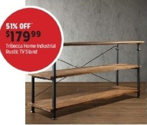 Tribecca Home Industrial Rustic TV Stand