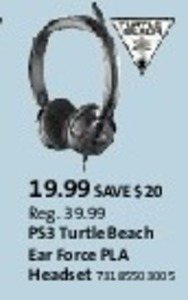 PS3 Turtlw Beach Ear Force Headset