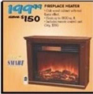 Life Smart Fireplace Heater