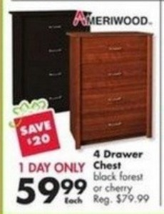 Ameriwood 4 Drawer Chest